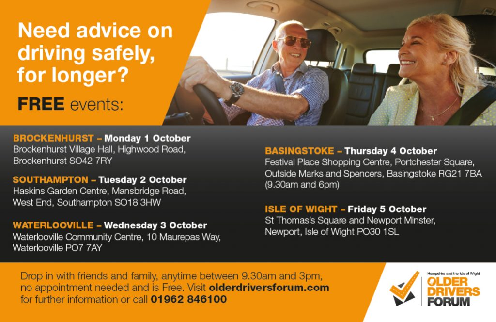 7928adcec72 Hampshire Older Drivers Awareness Week - Driving Mobility