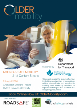 Ageing and Safe Mobility Event – Postponed TBC